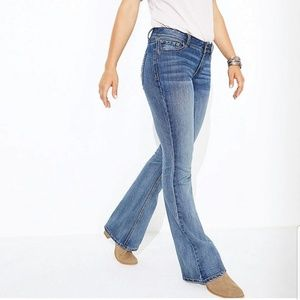 Lands'End Boot Cut Medium Washed Women's Jeans 14…